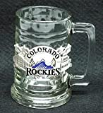 Colorado Rockies 15 oz Glass Tankard with 3-D pewter logo