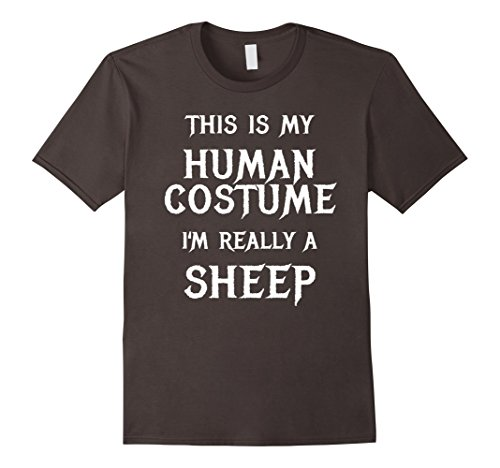 Mens Sheep Halloween Costume Shirt Easy Funny for Men Boys Girls XL Asphalt