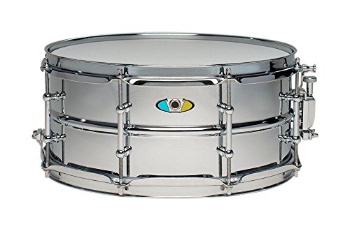 (Ludwig Supralite Steel Snare Drum 13 x 6 in.)