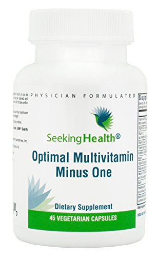 - Seeking Health | Optimal Multivitamin Minus One | Daily Multivitamin | Multivitamin for Men | Multivitamin for Women | 45 Vegetarian Capsules