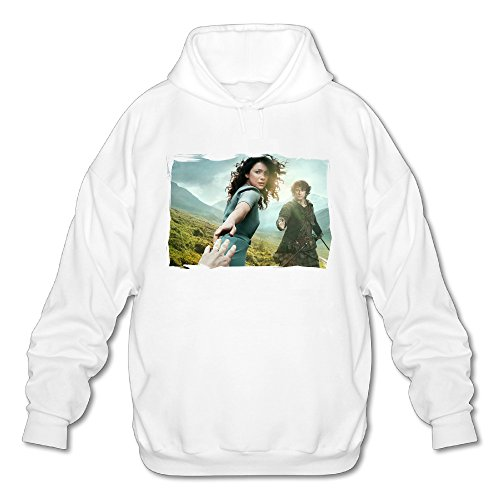 SAMMOI Outlander 4 Men's Cool Long Sleeve Hoodie XXL White