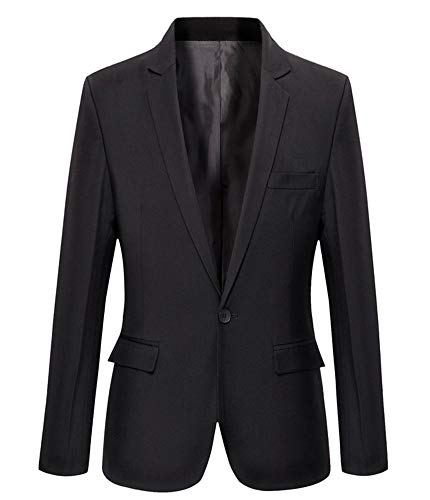 Mens Slim Fit Casual One Button Blazer Jacket (L, 303 ()