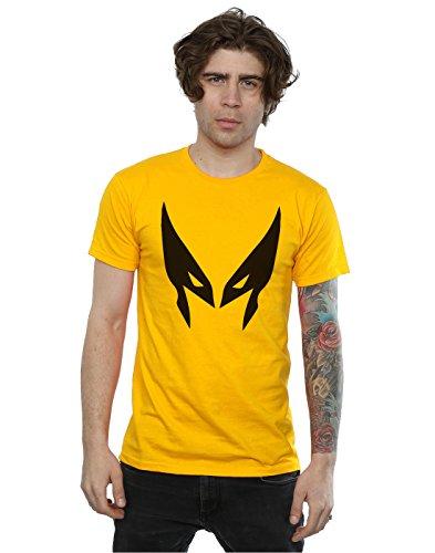 Marvel Men's X-Men Wolverine Mask T-Shirt Large Sunflower