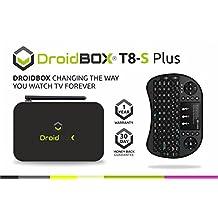 DroidBOX™ T8-S Plus V2 with i8 Mini-Keyboard Android 6.0.1 Powered Mini Computer SPMC/DBMC LibreELEC 17 Amlogic Smart TV BOX Chipset S905 GPU Mali-450 2GB RAM 32GB ROM 4K UltraHD HDMI 2.0a [W.i8]