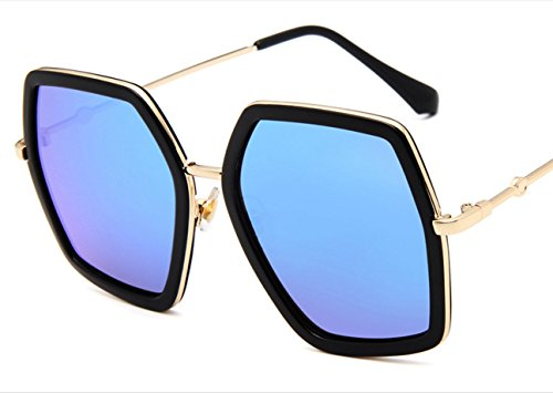 Europe and the United States the new polygon sunglasses big box sunglasses outdoor / beach / Street beat / travel bees Colorful mercury fashion glasses ( Color : 5 )