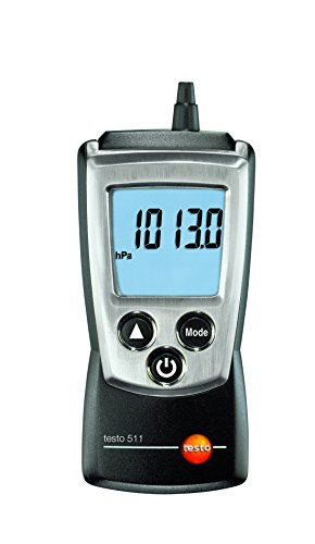 Testo 0560 0511 Pocket Pro Absolute Pressure and Altitude Meter, 300 to 1200 hPa Range, 0.1 hPa Resolution, +/- 3.0 hPa Accuracy, 2 Type AAA Battery - G Tube Protective Belt