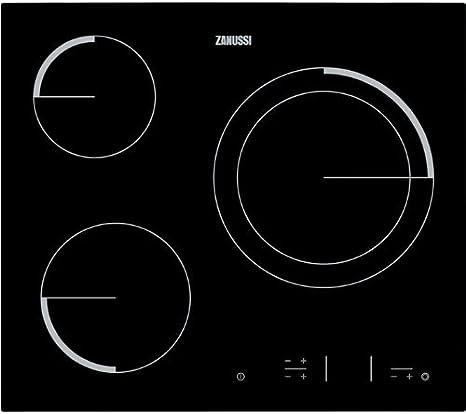 Zanussi Placa vitroceramica ZEV6331BBA 60 cm, 1800 W, Vidrio y ...