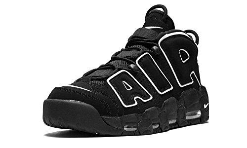 Nike Mens Air More Uptempo Black/White-Black Leather 1