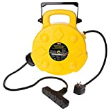 Bayco SL-8904 Professional 15 Amp Retractable Cord Reel, 50-Foot, 4 Outlets