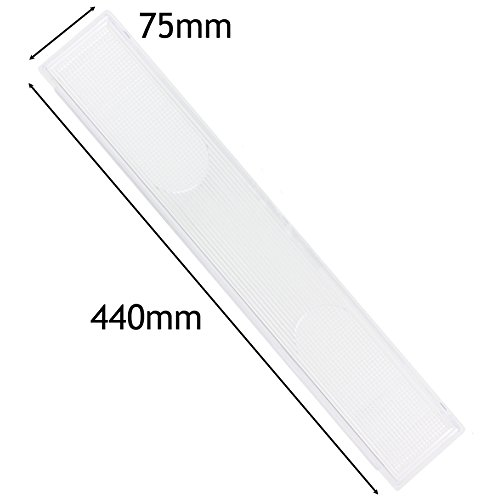 Spares2go Cooker Hood Light Diffuser / Lens Cover Plate (440Mm X 75Mm)