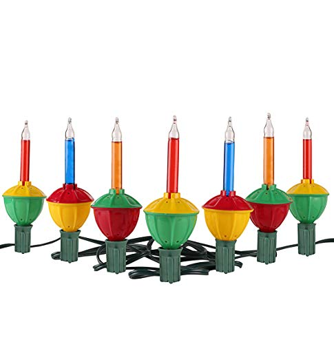 Tupkee Christmas Bubble Lights - Set of 7 Multi-Color Lights - Christmas Tree Holiday -