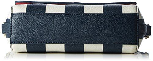 Tommy Hilfiger Fashion Novelty Mini Stripe, Sac Femme, Multicolore (Midnight / Turtledove / Scooter Red), 7x15x20 cm