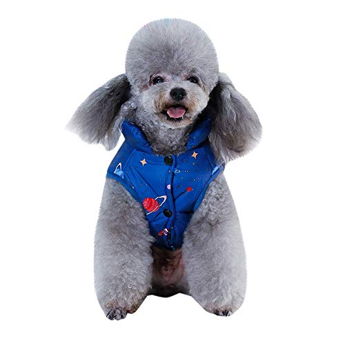 RSHSJCZZY Pet Dog Cotton Coat Cat Dog Keep Warm Vest Jacket Pet Winter Apparel Puppy Costume Clothes -