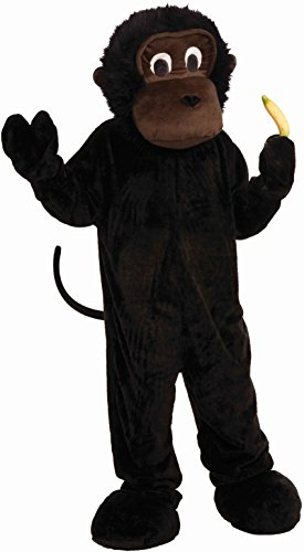 Forum Novelties Men's Plush Gorilla Mascot Costume, Black, One Size -
