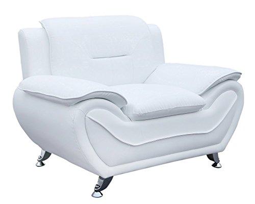 Container Furniture Direct S5399-C Michael Club Chair, Cream White