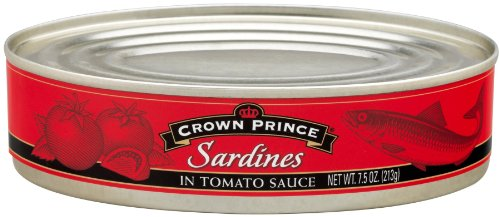 Crown Prince Sardines in Tomato Sauce, 7.5-Ounce Cans (Pack of 12)