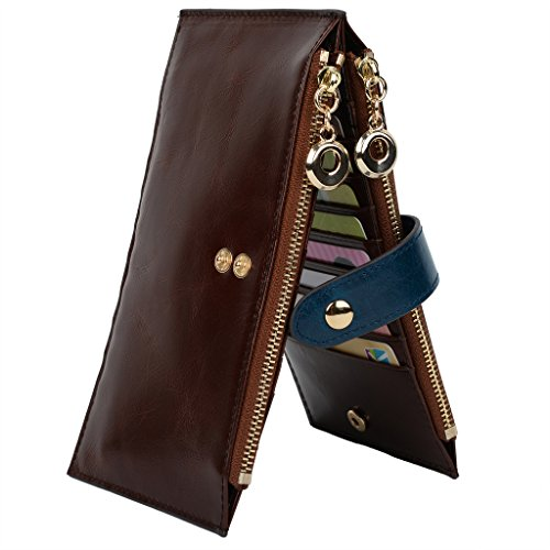 YALUXE Womens Credit Holder Leather