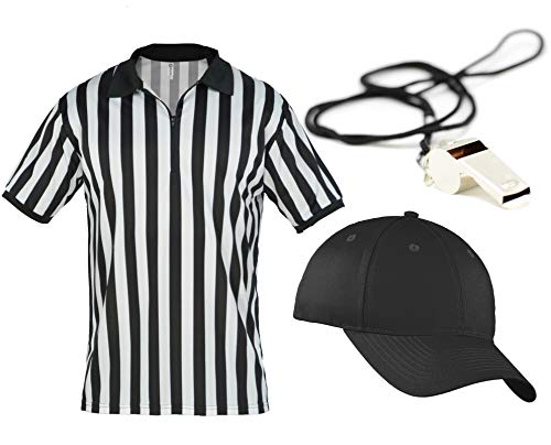 Mens Referee Shirts/Umpire Jersey Collar Officiating + Costumes + More! - RefSet CA2050ZIP XL CA2099 V L/XL RW1000