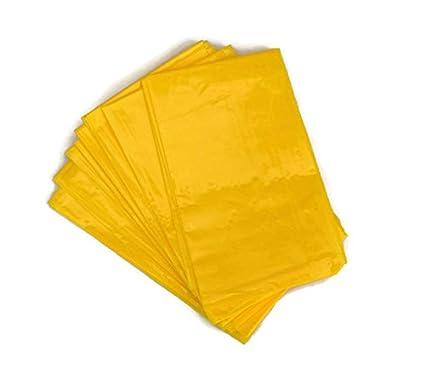 Bolsas de enfermos Vómito Mareo – Adhesivo de sellado de plástico de color amarillo x 10