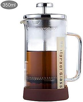 dxx Filtro servicios de mesa Cafetera 350/600 ml de acero inoxidable vidrio hueco francesa Cafetera Cafetera Tetera Émbolo de prensa del Ministerio del Interior de café 350ml,350ml: Amazon.es: Bricolaje y herramientas
