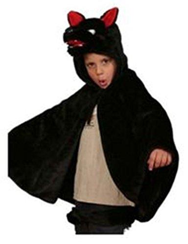 Kids Black Wolf Cape and Tail Halloween (Big Bad Wolf Dog Halloween Costume)
