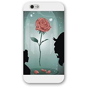 """Customized White Frosted Disney Cartoon Movie Beauty and The Beast iPhone 6 4.7 Case, Only fit iPhone 6 4.7"""" by mcsharks"""