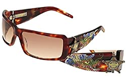 Ed Hardy Brown Shades With Rhinestones