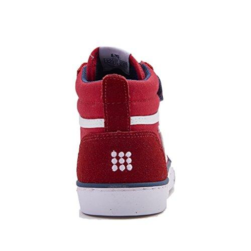 DrunknMunky Boston Vitaminix, Zapatillas Altas Para Niños Rosso/blu