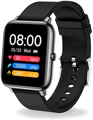 "MuGo Smart Watch, IP67 Swimming Waterproof, Activity Tracker with 1.4"" Touch Screen, Fitness Tracker with Heart Rate Monitor, Watch Heart Rate Monitor Smart Watches for Men Women"