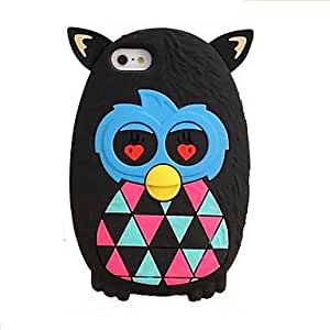 Zaki Stereo Carton Owl SilIcon Soft Case for iPhone 5/5S (Assorted Colors)