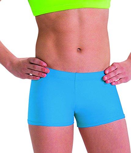 Motionwear Perfect Active Gymnastics Low Rise Shorts, Turquoise, Intermediate - Motionwear Shorts