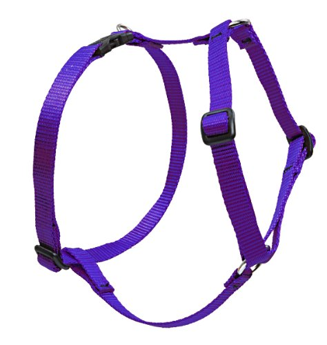 "LupinePet Basics 3/4"" Purple 14-24"" Adjustable Roman Dog Harness for Medium Dogs"