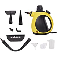Lucky Tree Handheld Steam Cleaner Multi-Purpose Pressurized With 14 Accessories For Stain Removal (yellow)