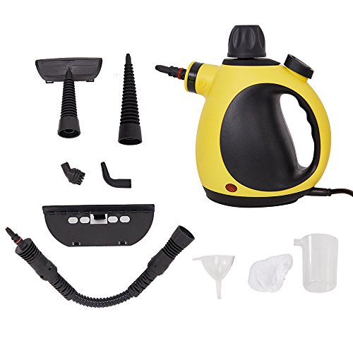 Lucky Tree Handheld Steam Cleaner Multi-Purpose Pressurized With 14 Accessories For Stain Removal (yellow) by Lucky Tree