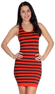 Simplicity Women's Striped Summer Mini Tank Dress