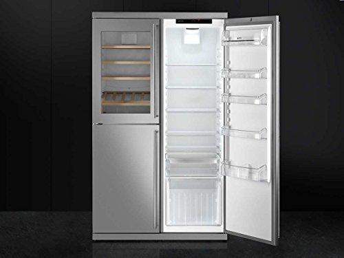 Side By Side Kühlschrank Ausstellungsstück : Smeg side by side wein kühl gefrier kombination edelstahl