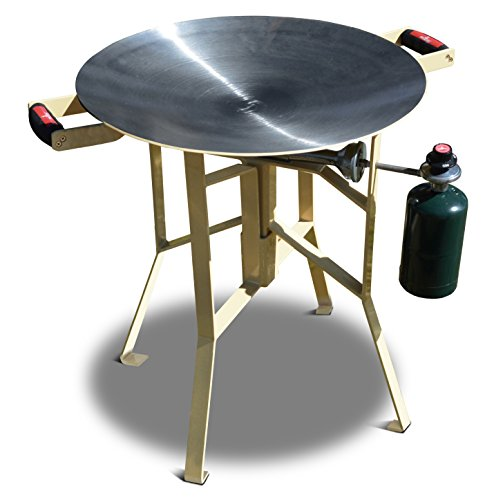 FireDisc - Shallow 24'' Backyard Plow Disc Cooker - Desert Tan | Portable Propane Outdoor Camping Grill by BTI Outfitters