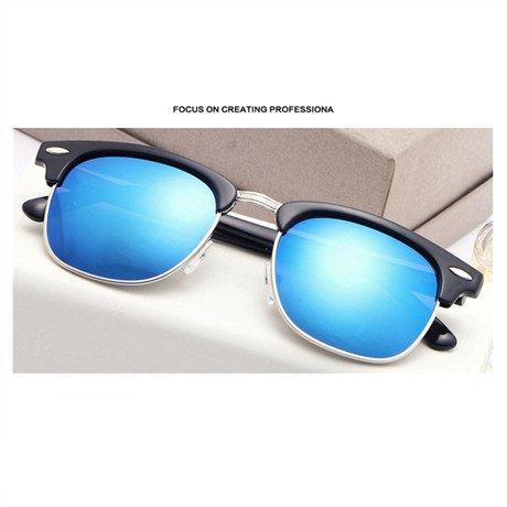 Sol Gafas Sol mercury la Mujer Feminino Rojo Hombres Gafas de Gafas GGSSYY Blue De de de Mercurio Marca Sol Unisex Diseñador Ow7xFqE