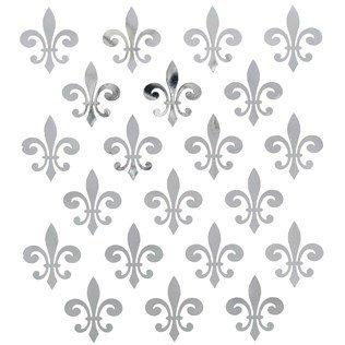 Fleur De Lis Stickers (Silver Foil Fleur-de-Lis)