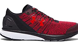 Under Armour Men`s Charged Bandit 2 Running Shoes, 11, Red Black