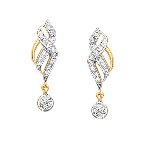 Giantti 14carats Diamant pour femme Dangler Boucles d'oreilles (0.2656CT, VS/Si-clarity, Gh-colour)