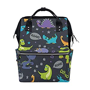Ahomy Baby Changing Bag Backpack, Cute Dinosaurs Roaring Mummy Nappy Diaper Bag Baby Travel Backpack