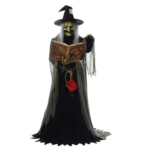 [Spell Speaking Witch Animated Prop Halloween Haunted House MR124250 by Mario Chiodo] (Animated Witch)