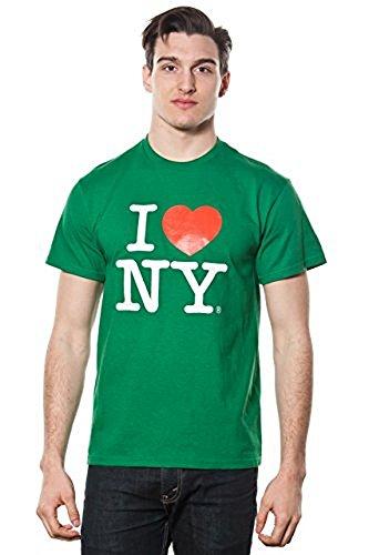 MENS I LOVE NY SHORT SLEEVE T-SHIRT GREEN (Medium)