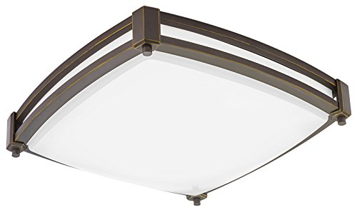Bronze Bathroom Fan - Lithonia Lighting FMSSATL 13 14840 BZA M4 Antique Bronze LED Saturn Flushmount