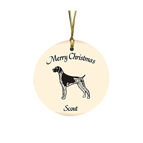 GiftsForYouNow Dog Breed Personalized Christmas Ornament, German Shorthaired - Christmas Ornament Shorthaired Pointer German