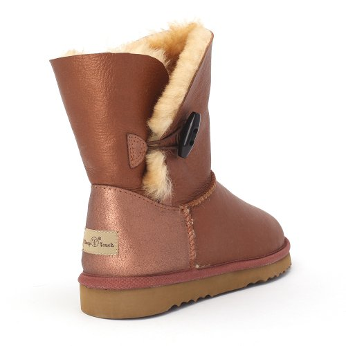 Sheepskin Face Bomber Touch Sheep Button Barberry Bronze Twin Women's Boots xwA4YqF