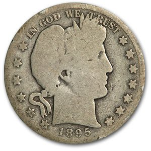 1895 S Barber Half Dollar AG Half Dollar About Good