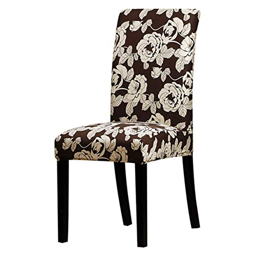 TANGOGO Printing Floral Universal Size Chair Cover Seat Chair Covers Protector Seat Slipcovers for Hotel Banquet Dining Home Decoration ()