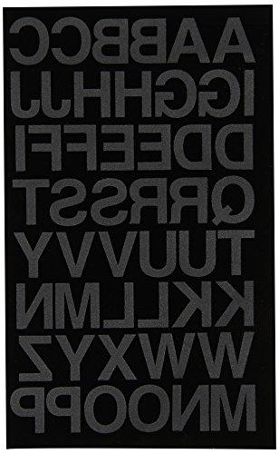 (Dritz BL100HBK Iron-on Letters, Soft Flock, Block, 1-Inch, Black)